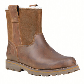 Timberland Asphalt Trail Botas con Tiras con Forro Cálido Niños, light brown full-grain
